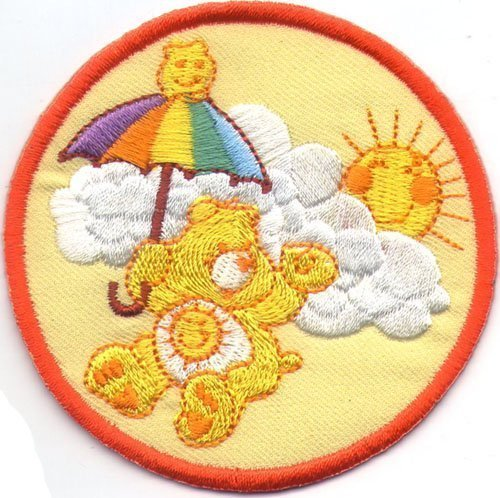 embroidered-applique-iron-sew-on-patch-care-bear-several-models-to-choose-orange