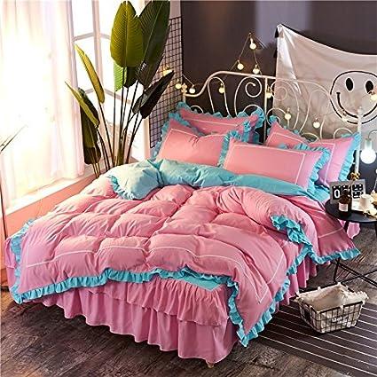 Amazon.com: KFZ Girls Princess Bed Set [4pcs HT Queen size 78