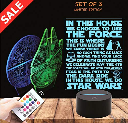 Millennium Falcon Star Wars Lighting Gadget Lamp Decor Awesome Gift -