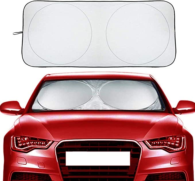 Lightweight Sunshade Cover with Suction Cups G-III Sports Auto Decor Windshield Sun Shade Oa-kla-nd Rai-de-rs Waterproof Protector No Heat Damage
