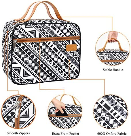 [2021 Newest] Langwolf Hanging Toiletry Bag for Women and Men, Water-resistant Large Capacity Cosmetic Bag, Makeup Toiletries Organizer for Travel