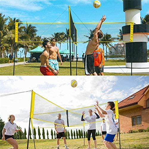 Innovative Portable Four Square Volleyball Net and Game Set with Adjustable Pole for Backyard and Beach. Volleyball Net Set Outdoor with Poles