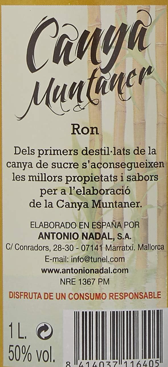 Canya muntaner Cachaça - 3 botellas x 1000 ml - Total: 3000 ...