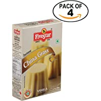Five Star Instant China Grass Mix Vanilla -100g Box - Pack of 4