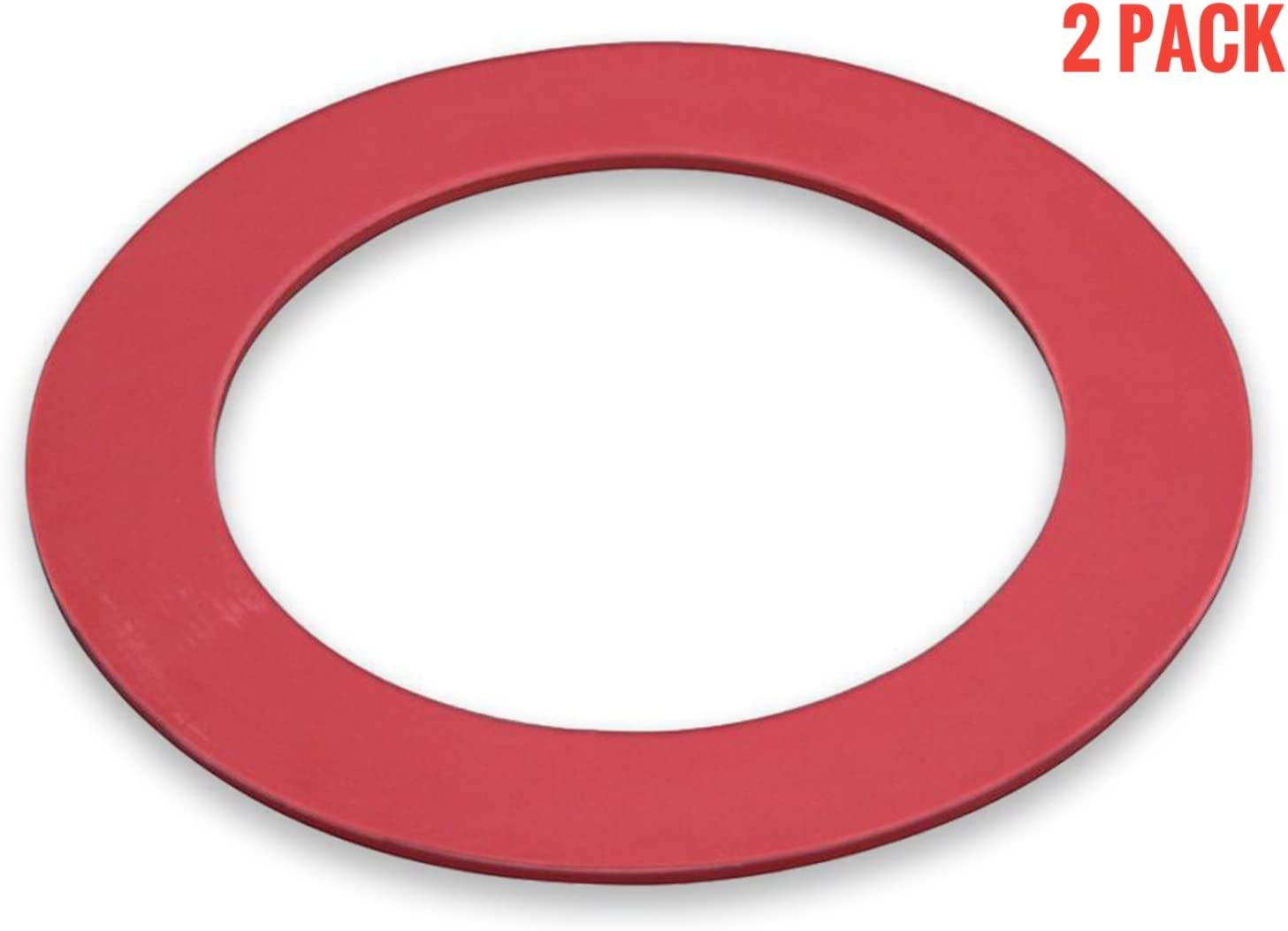 Flush Valve Rubber Seal Gasket Replacement for Mansfield 210 & 211, 2 Pack (Mansfield Flush Valve Seal)