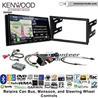 Volunteer Audio Kenwood Excelon DNX994S Double Din Radio Install Kit with GPS Navigation Apple CarPlay Android Auto Fits 2003-2005 Volkswagen Golf, Jetta, Passat with Amplified Systems