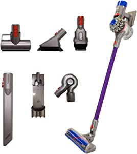 Dyson V8 Animal+ Cordless Stick Vacuum Cleaner with 7 Tools Including Mini Motorized Tool, Combination Tool and Up Top Adaptor, Rechargeable, Cord-Free, Lightweight, Powerful Suction, Purple