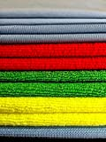 leather cleaner rag - EZmicrofiber - MICROFIBER CLEANING CLOTH multi-purpose, set of 11- polishing, car, glasses, windows, shower, dusting quality rags - antibacterial - color coded - lint-free