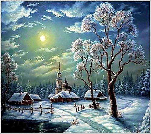 Winter Scenery Diamond Painting Embroidery Christmas Snowy N