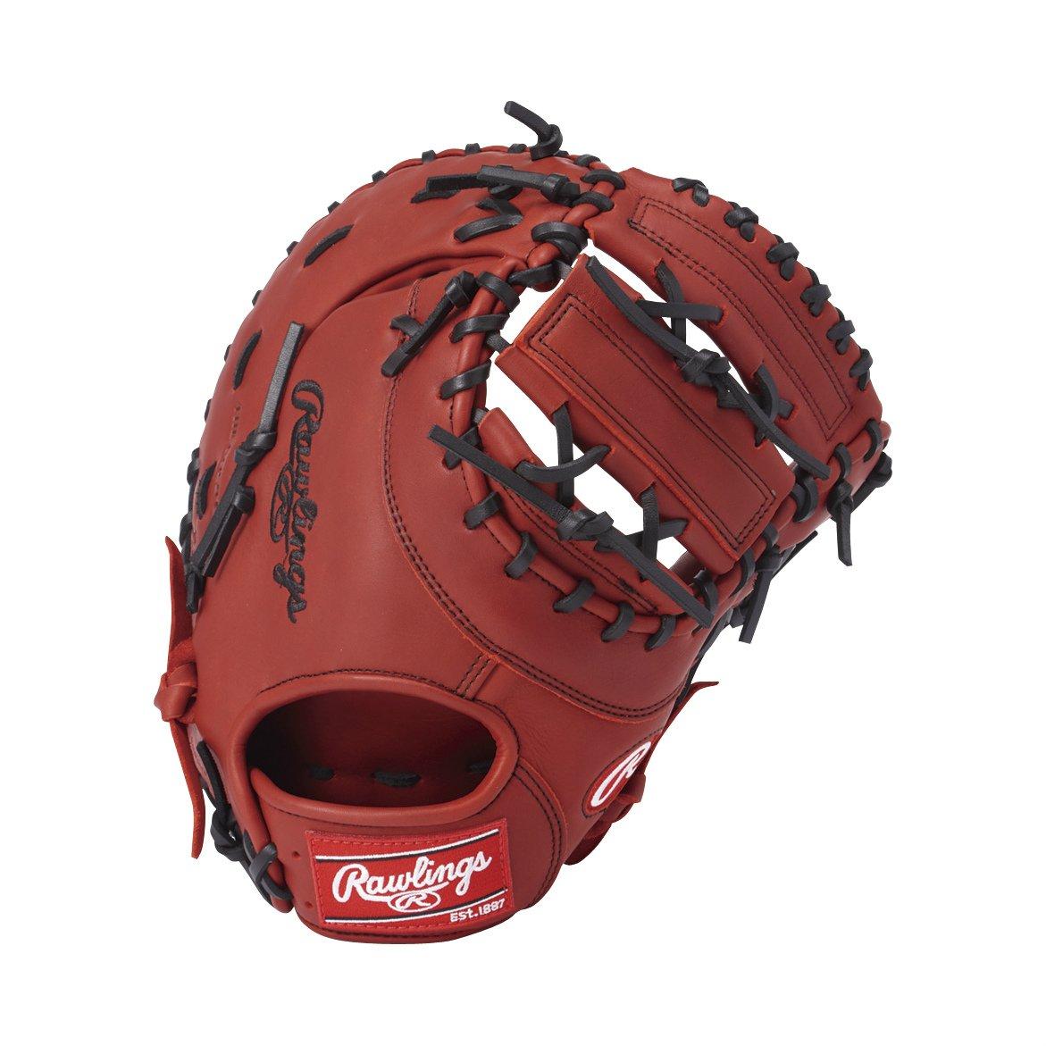 Rawlings(ローリングス) ソフトボール用 ソフト HYPER TECH DP[ファースト用] GS8HT3ACD B075Z56L2X [サイズ 12.5] [12 1/2inch] LH(Right hand throw)※右投用 レッド レッド [サイズ 12.5] [12 1/2inch] LH(Right hand throw)※右投用