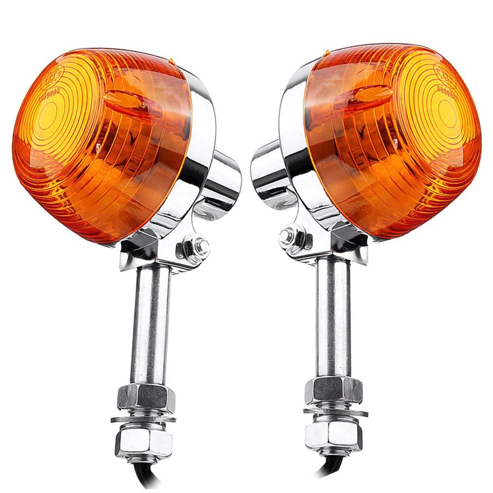 DD-BOMG 2pcs clignotants moto clignotant avant orange