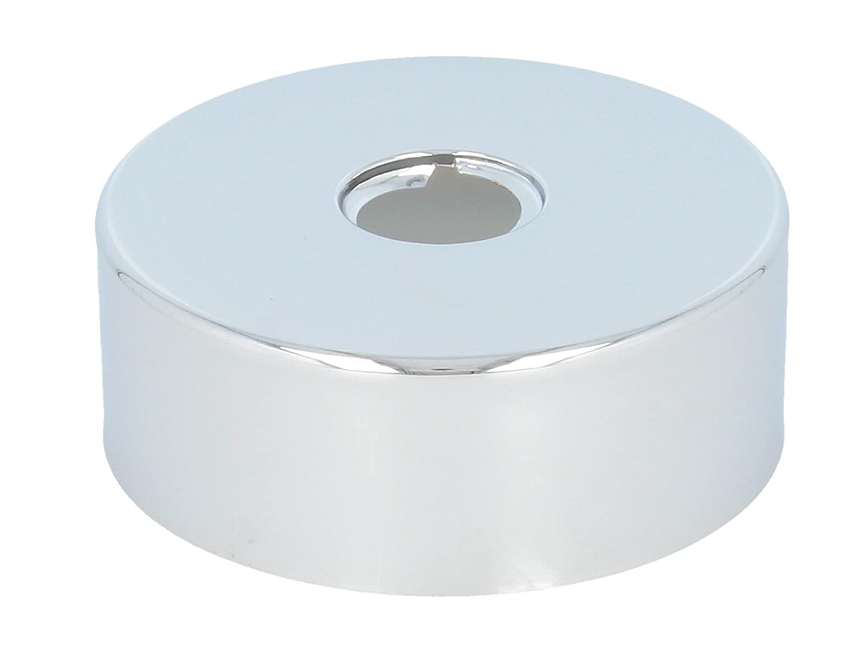 tecuro Gewinderosette (1/2) Ø 22 mm x Ø 80 mm x Höhe 30 mm, messing verchromt