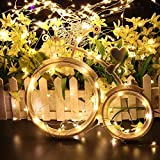 Kohree 4 Pack Christmas String Lights Decorative Rope Fairy Strarry Lights for Bedroom Patio Garden Party Wedding Commercial Lighting, USB plug in 33ft 100 LEDs,Warm White