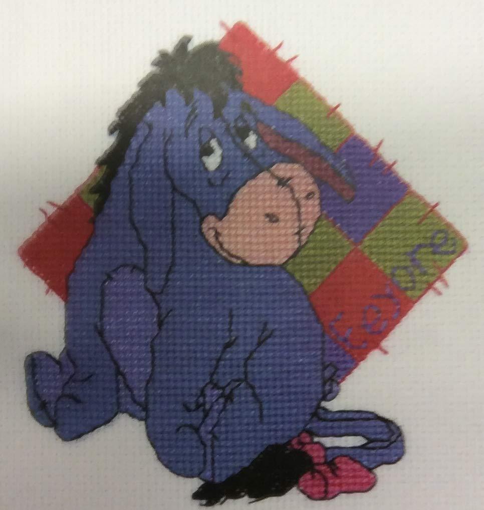 Designer Stitches Disney Winnie The Pooh Character Eeyore Patchwork Cross Stitch Kit 16 Count B48