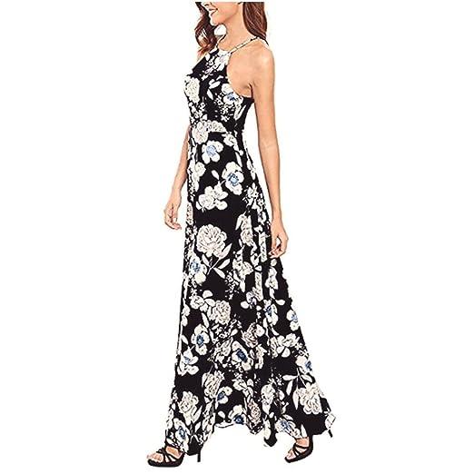 Women Long Maxi Floral Dress 2ac11f893853