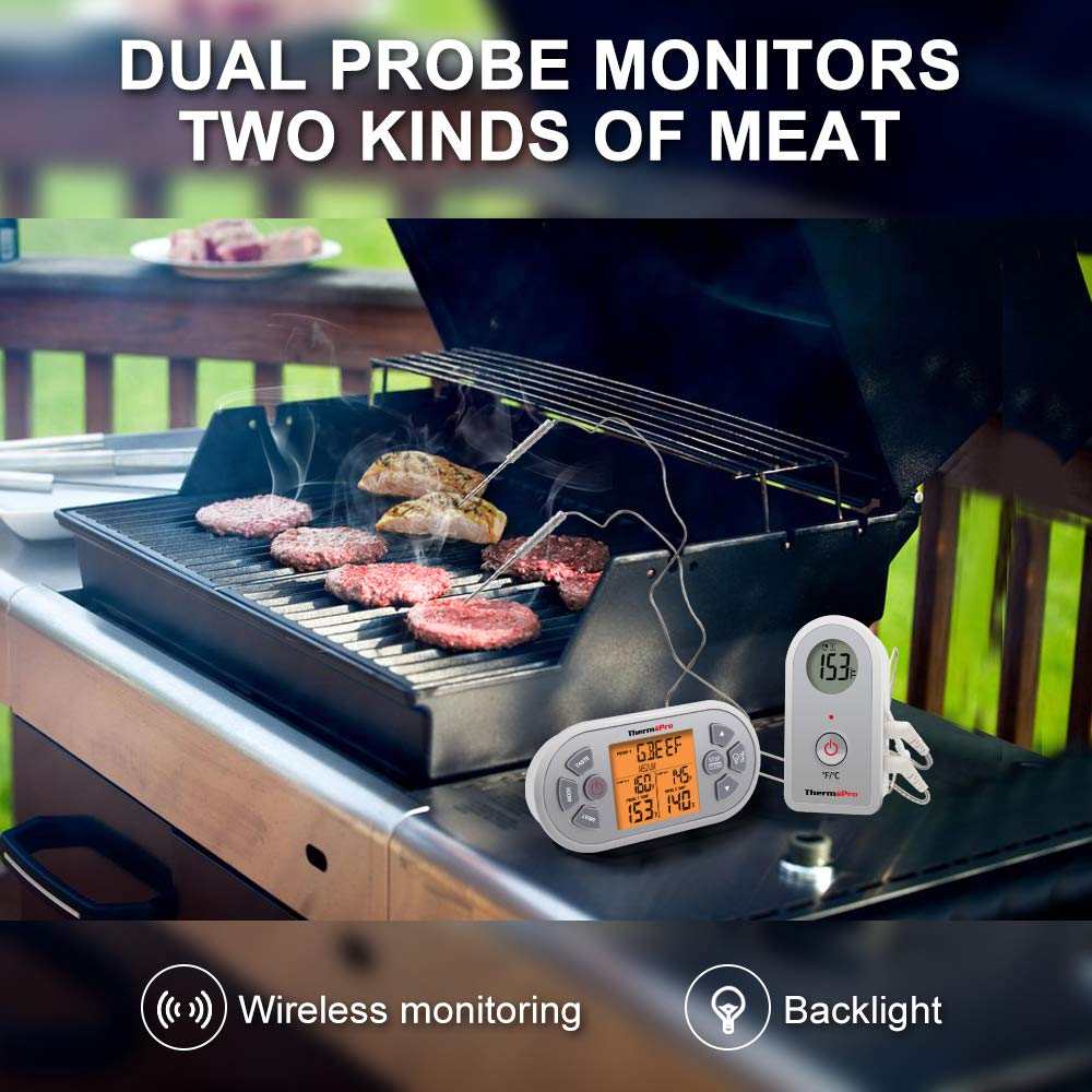 ThermoPro TP22 Digital Wireless Remote Cooking Food Meat Thermometer for Oven Smoker BBQ Grill Thermometer with Dual Probe by ThermoPro (Image #2)