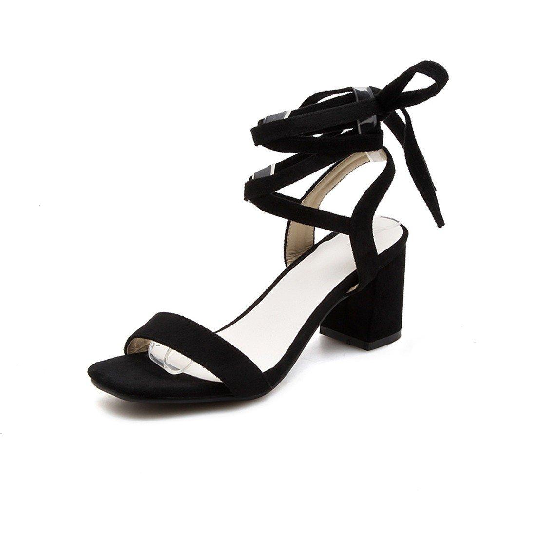 1243c2f9 RFF-Zapatos de primavera, verano y otoño verano rocío mate grueso-toe  mujeres