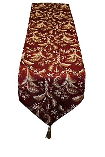 Marvelous Violet Linen LUXURY DMSK G Luxury Damask Table Runner,Burgundy,13u0026quot; ...