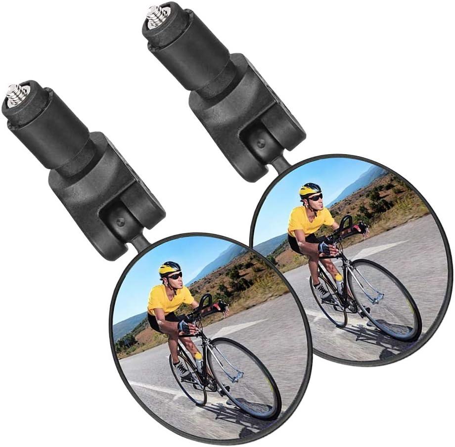 1 Paar Radfahren Fahrrad Fahrrad Reflektorspiegel 360 Rotation RückansichtXUI