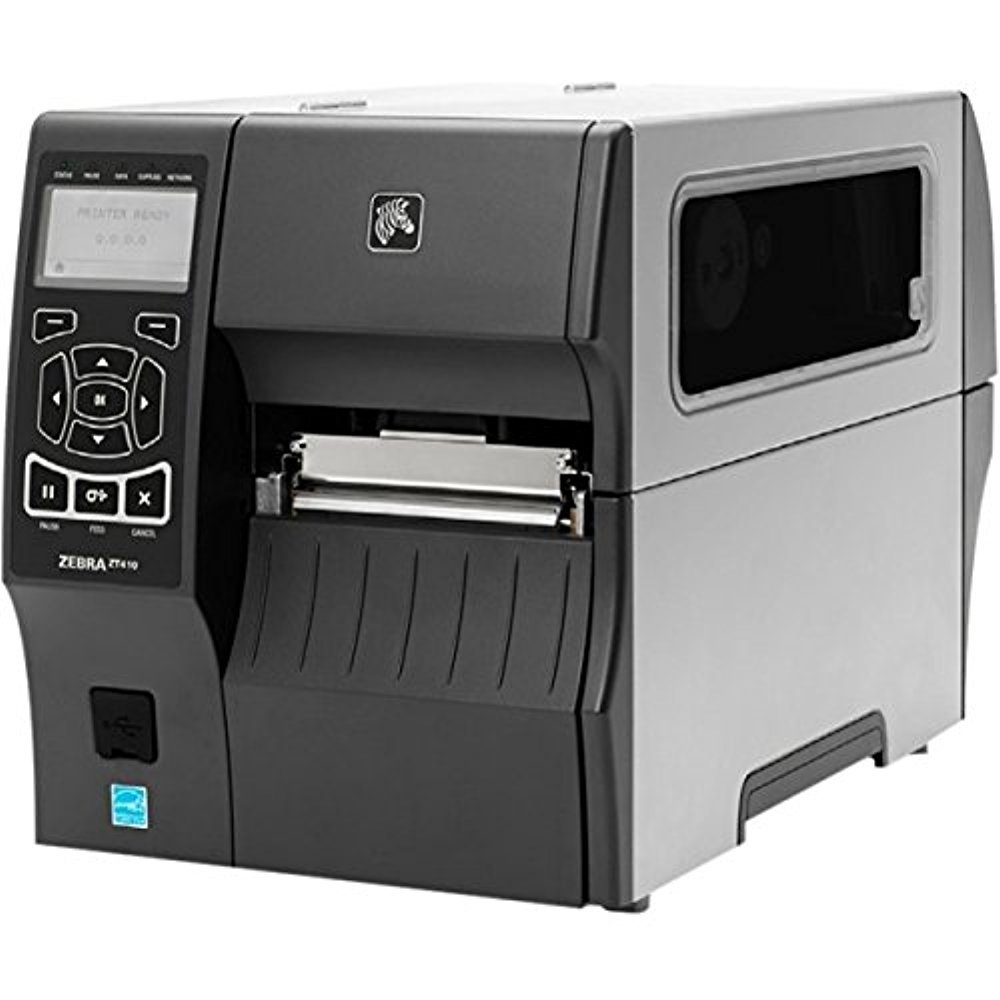 Monochrome Zebra ZT410 Direct Thermal//Thermal Transfer Printer Label Print Desktop