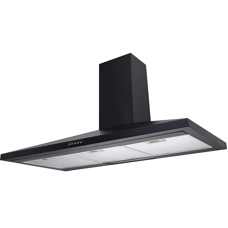 SIA CH91BL 90cm Black Chimney Cooker Hood Kitchen Extractor Fan