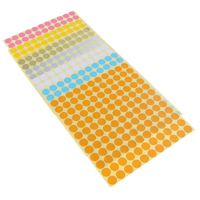 Fournitures de bureau P PRETTYIA 7x Feuilles détiquettes Bouchons Bouteille Dhuile Essentielle code-couleur Cap Stickers DIY