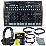 Arturia DrumBrute Analog Drum Machine and Deluxe Bundle w/ Beyerdynamic Custom Street Headphones + Djing for Dummies Guide + Cables + Fibertique Cloth096259925393