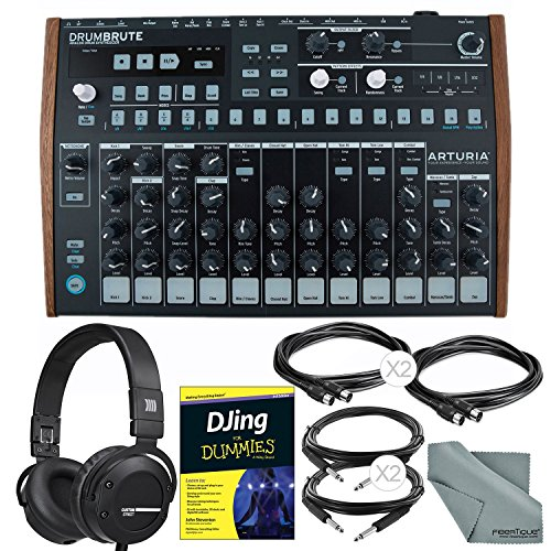 Arturia DrumBrute Analog Drum Machine and Deluxe Bundle w/ Beyerdynamic Custom Street Headphones + Djing for Dummies Guide + Cables + Fibertique Cloth096259925393 by Photo Savings