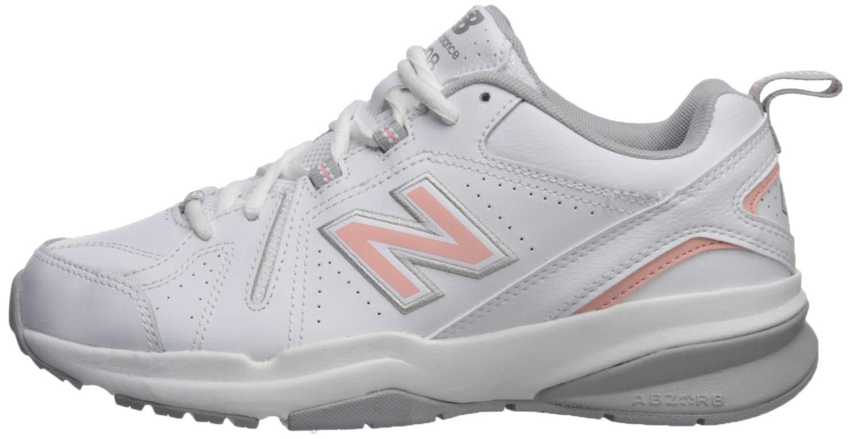 New Balance Women's 608v5 Casual Comfort Cross Trainer, White/Pink, 9 N US