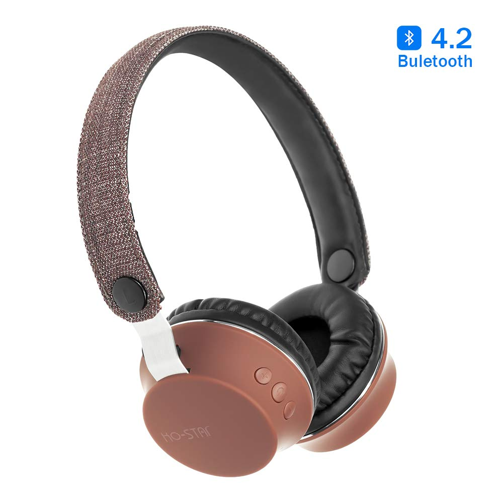 Vech Wireless Headphones Over Ear, Bluetooth Noise Cancelling Headphones, Hi-Fi Stereo Ear Headphones with Microphone, Adjustable Head Band, Comfortable Protein Earpads, 8H Playtime for Travel/Work