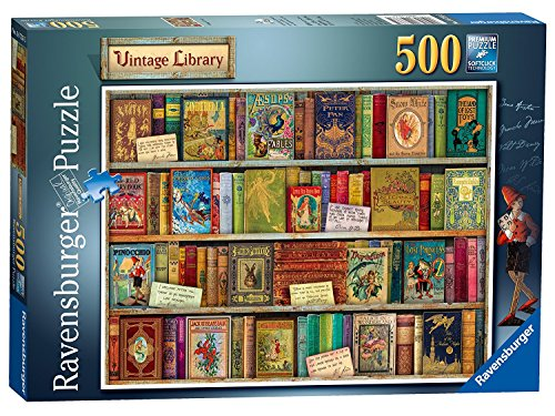 Review Vintage Library 500 Piece Jigsaw Puzzle (Ravensburger)