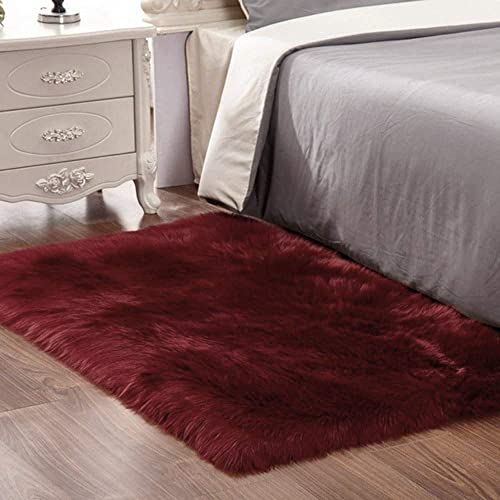 Super Soft Thick Fluffy Faux Sheepskin Area Rug
