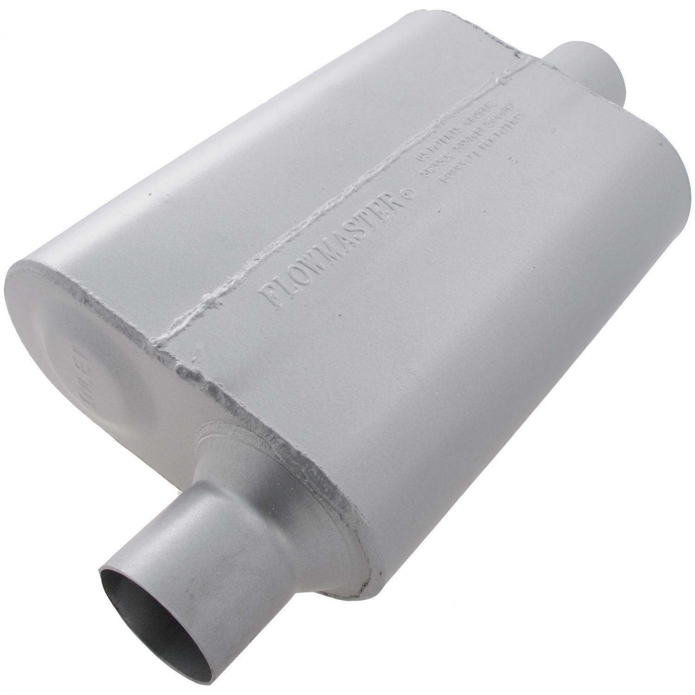 Flowmaster 942541 40 Delta Flow Muffler 2.50 Offset IN 2.50 Center OUT Aggressive Sound
