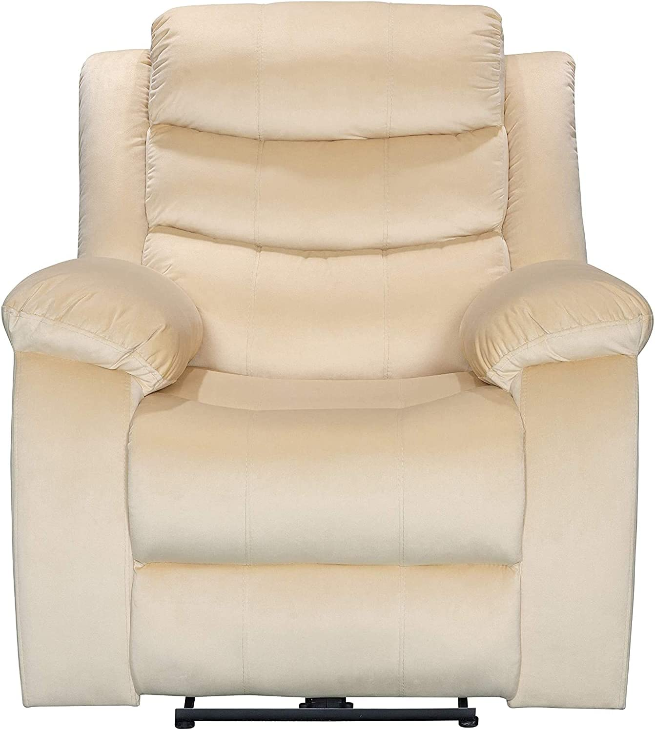 ICE ARMOR 99LCH8005-BGE Power USB Port Electric Pillow Top Arms Bedroom and Living Room Recliner Sofa Chair, Beige