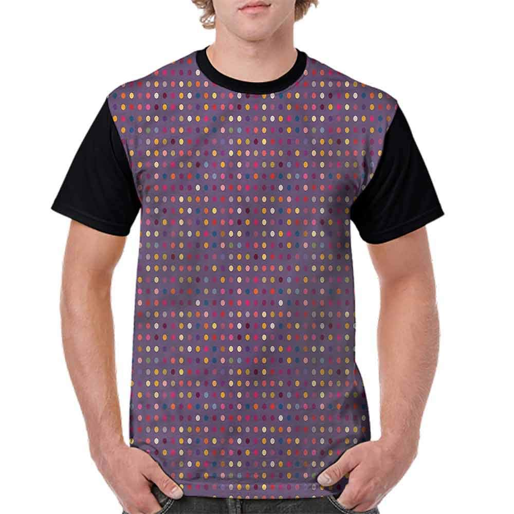 BlountDecor Trend t-Shirt,Vibrant Figures Polka Dots Fashion Personality Customization