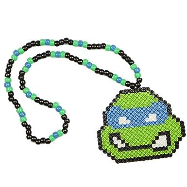 Collar Kandi de TMNT Leonardo Tortugas Ninja collar rave ...