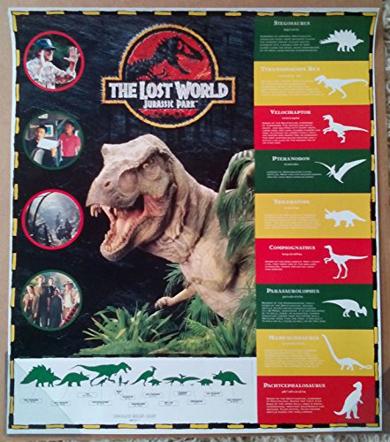JURASSIC PARK THE LOST WORLD MOVIE POSTER 2 Sided ORIGINAL D