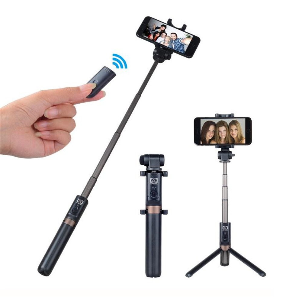 GUOYAJF Selfie Stick Tripod With Wireless Remote - Edge 3 In 1 Mini Pocket Extendable Monopod Aluminum Alloy 360 Degree Rotation For Iphone X 8 6 7 Plus Android Samsung Galaxy S7 S8 Plus