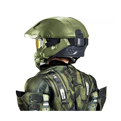 Halo Master Chief Niño Niños Full disfraz de Deluxe Casco | Disguise 89995