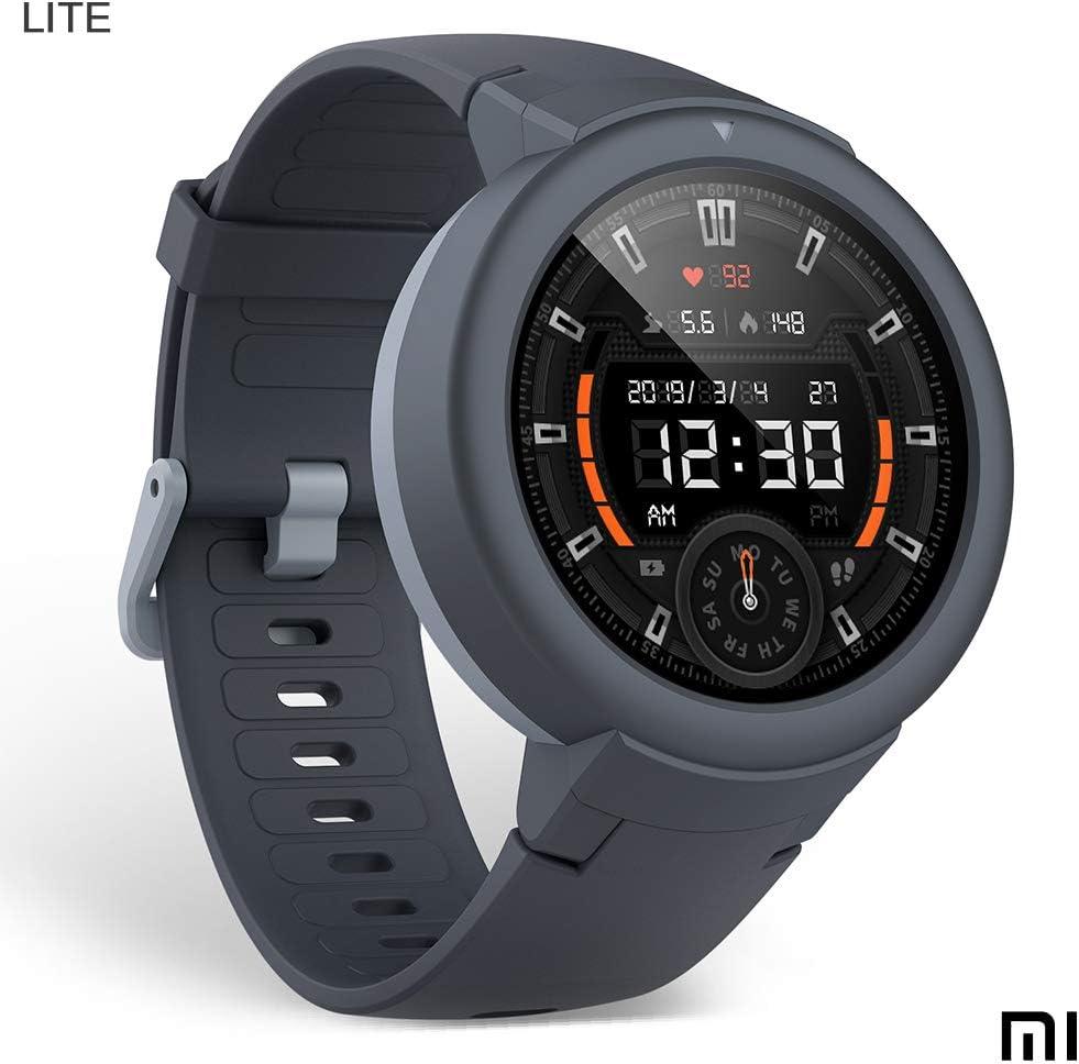 Amazfit Verge LITE Smartwatch Deportivo - 20h de Batería |GPS+GLONASS | Sensor Frecuencia Cardíaca | IP68 Resistencia Agua | Notificaciones-Música |Gris | iOS-Android