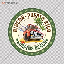Sticker Vacation Place Souvenir Surf Surfboard durable Boat (14 X 14 In. ) Fully Waterproof Printed vinyl sticker