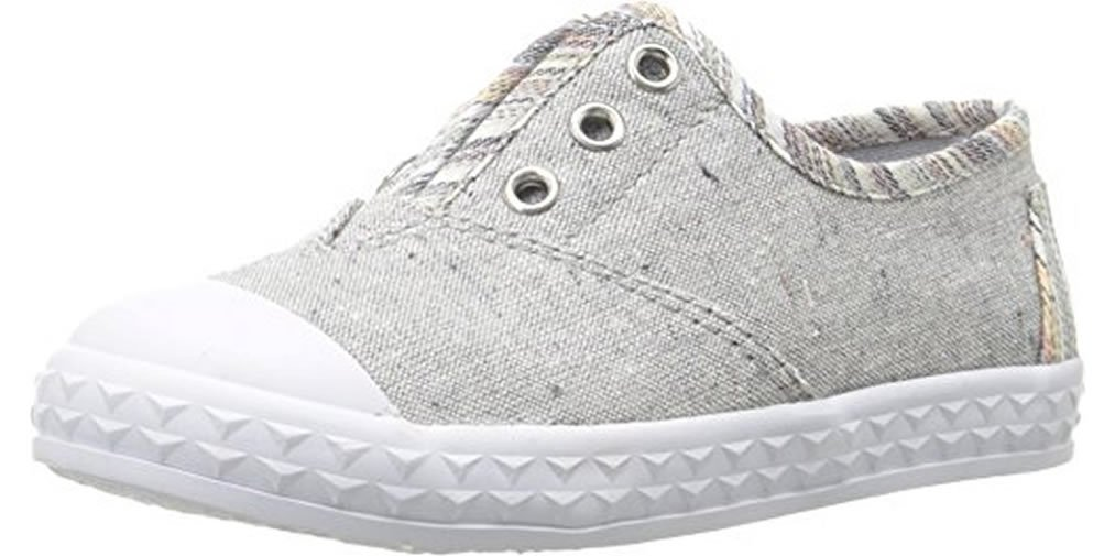 TOMS Kids Kids' Zuma Sneaker (Infant Little), Light Grey Speckle Chambray, 10 Toddler M