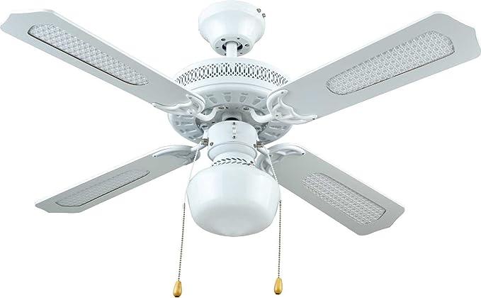 Bastilipo Nerja Ceiling Fan With Light E27 50 W White 105 X 42 Cm Amazon De Beleuchtung