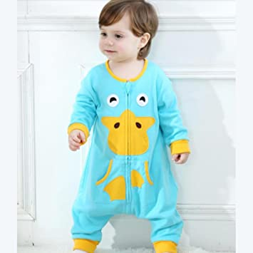 YINGER Pijamas para bebés Manga larga Una pieza Patrón de dibujos animados Pijama Adecuado para 0