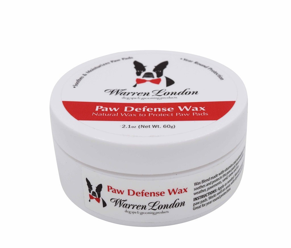 Warren London Top Paw Defense Wax - Soothes, Moisturizes and Protects Dry Cracked Paw Pads for Dogs and Puppies 2.1 oz