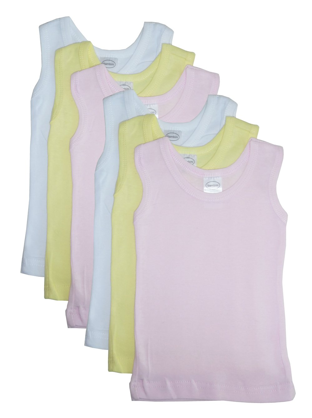 Bambini Unisex Baby 6-Pack Tank Tops