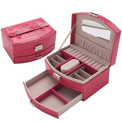 Wagyunfei Organizador de la Caja de Joyas de Viaje Premium para niñas/Mujeres Cajas de