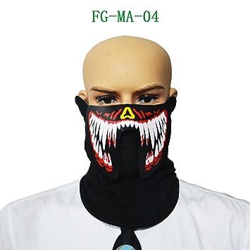 1 máscara de Halloween LED luminoso intermitente para fiesta, máscaras de baile, Halloween,