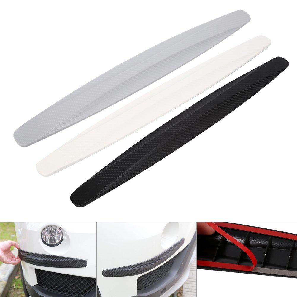 1 Par Fibra ABS De Carbono De Coches Delantero Y Trasero De Parachoques Protector Rejilla de goma para autom/óvil Auto Protecci/ón Fibra de carbono negro 100/% de protecci/ón impermeable