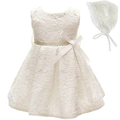 Baby Girls Christening Dress Baptism Gown Pageant Formal Dresses (3M/ 0-6months,